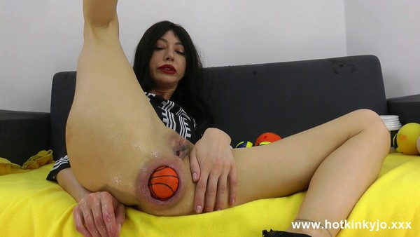 HotKinkyJo - Another tons of balls insertion fun (FullHD 1080p)