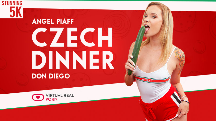 Czech dinner, Angel Piaff & Don Diego, Aug 27, 2018, 3d vr porno, 5k 3d vr porno, HQ 2700p