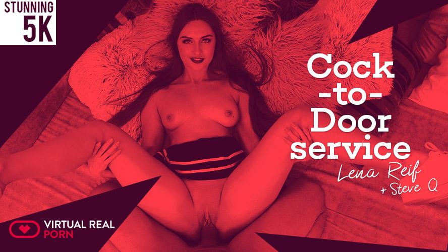Cock-to-door service, Lena Reif, Dec 24, 2018, 3d vr porno, HQ 2160p