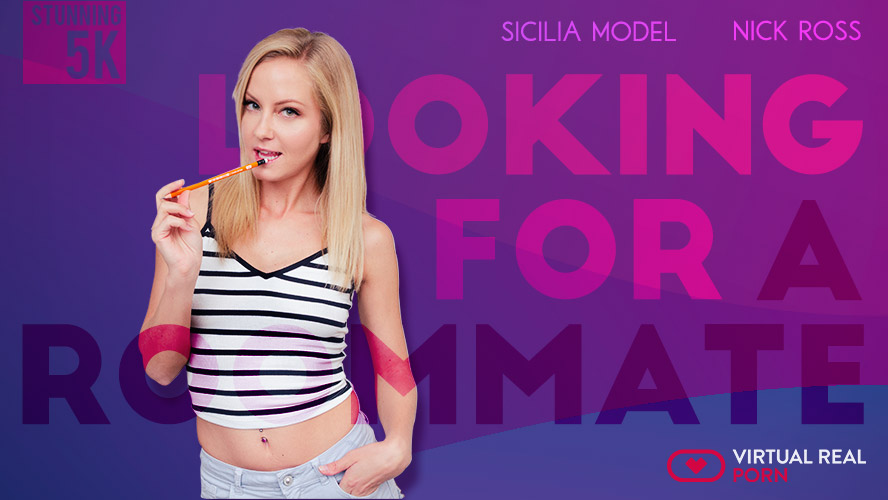 Looking for a roommate, Nick Ross & Sicilia, Oct 15, 2018, 5k 3d vr porno, HQ 2700p