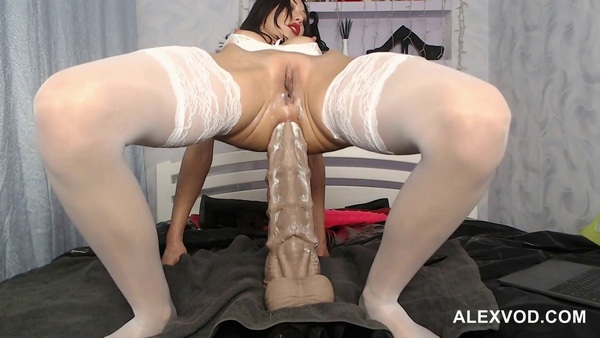 HotKinkyJo - XXXL sea horse, anal deep dong, fisting and prolapse (2018 / FullHD 1080p)