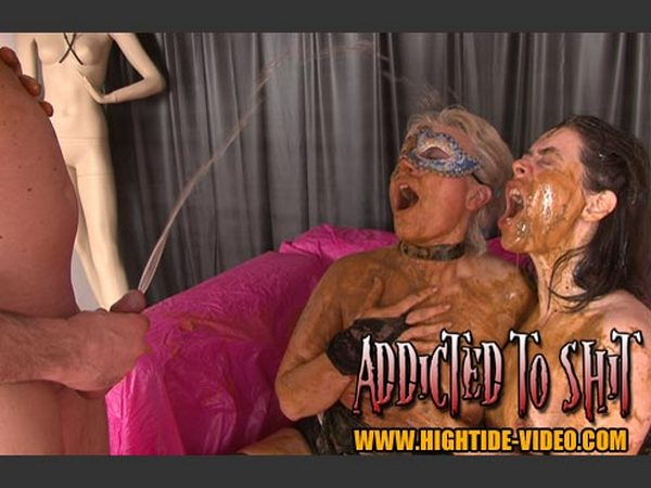 Gina, Ingrid and 1 Male - ADDICTED TO SHIT