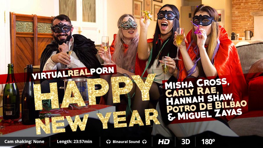 Happy New Year, Carly Rae, Hannah Shaw, Miguel Zayas, Misha Cross, Dec 31, 2015, 3d vr porno, HQ 1600p