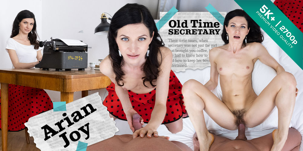 Old Time Secretary, Arian Joy, Apr 14, 2019, 3d vr porno, HQ 1920p