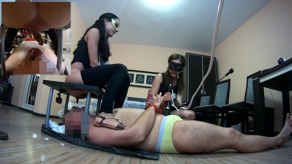 Mistress Anna - One slave swallow two shits (FullHD 1080p)