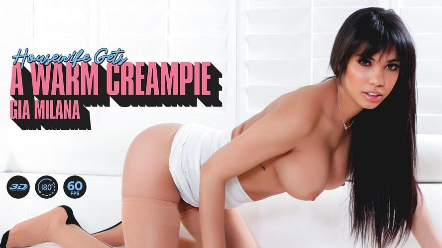 Housewife Gets a Warm Creampie, Gia Milana, Jun 27, 2019, 3d vr porno, HQ 1920