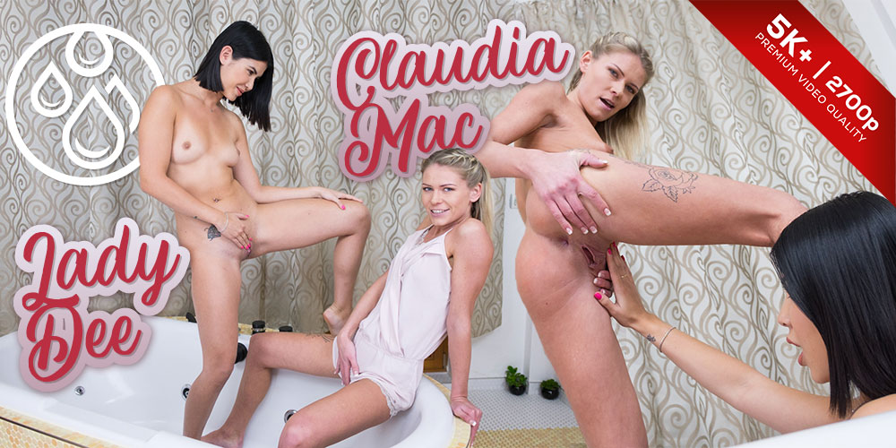 Mac and Dee's Bathroom Adventure, Claudia Mac, Lady Dee, Apr 10, 2019, 5k 3d vr porno, HQ 2700