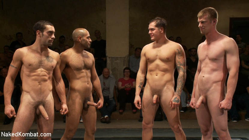 NakedKombat - Intense Live Tag-Team Match