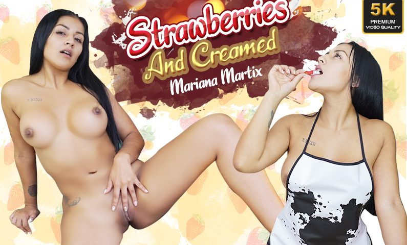Strawberries And Creamed, Mariana Martix, Jul 3, 2019, 5k 3d vr porno, HQ 2700