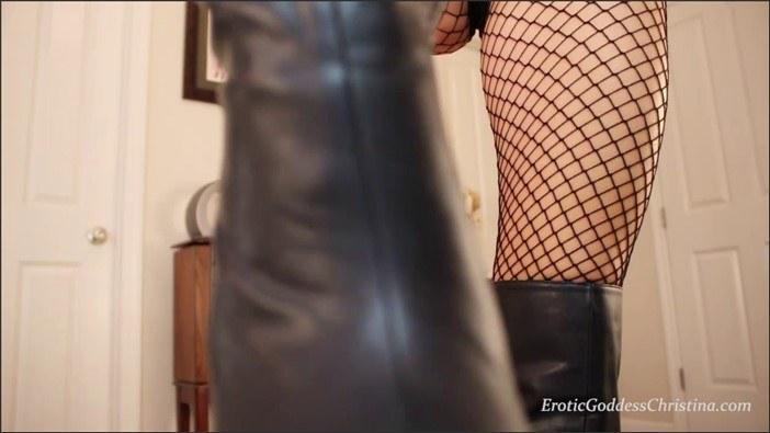 Goddess Christina - Filthy Boot Licking Puppy