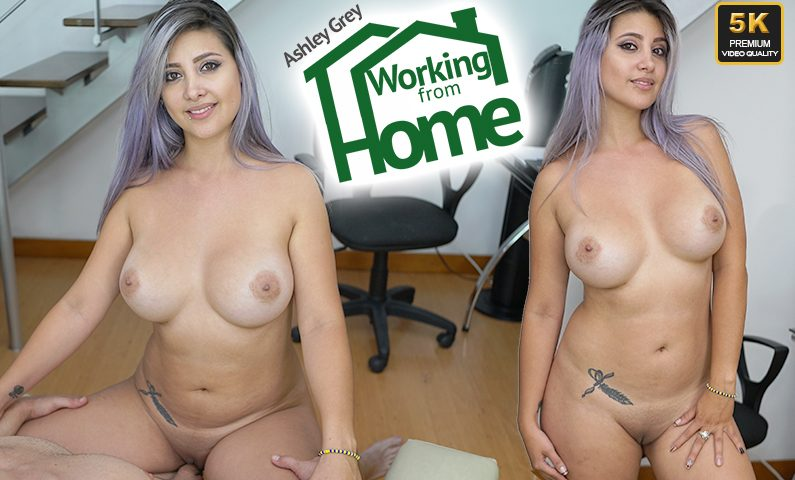 Working From Home, Ashley Grey, 2 Aug, 2019, 5k 3d vr porno, HQ 2650