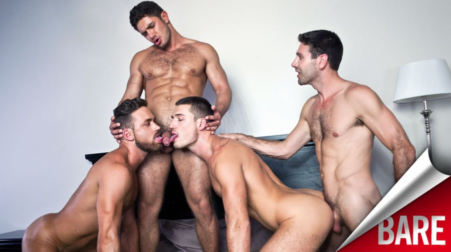 LucasEntertainment - Raw Double Penetrations 2 sc.2 - Dato Foland, Craig Daniel, Logan Moore, And Theo Ford