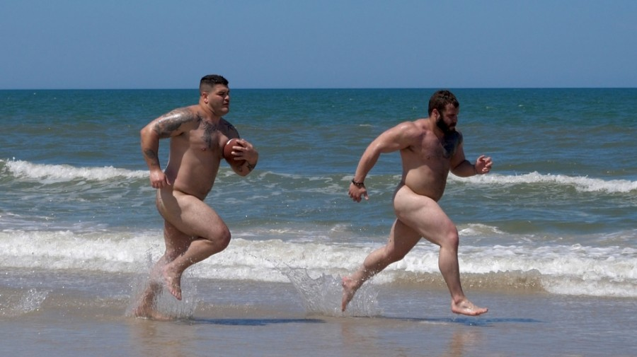 TheGuySite - Naked Football Players at the Beach - Daxx Carter & Champ