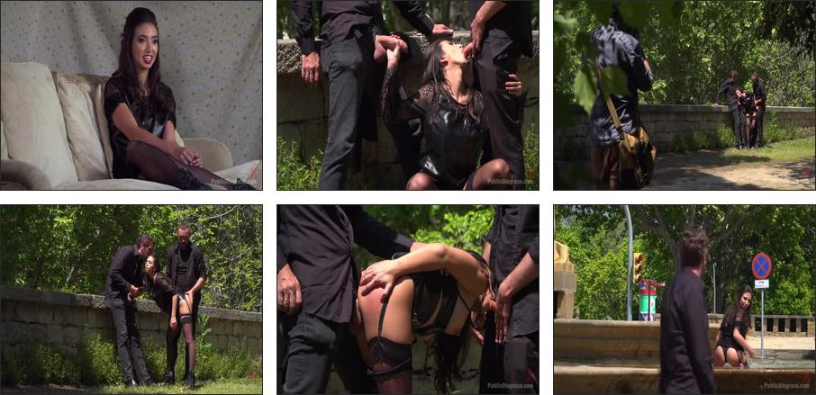 Spanish Slut Frida Sante Fucked Outdoors , Scene 1