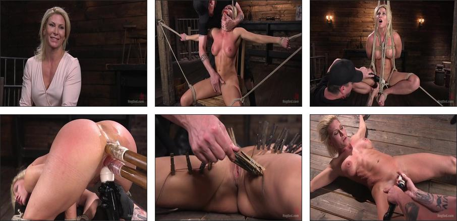 Ariel X is Tormented in Brutal Bondage and Double Penetrated , Scene 1