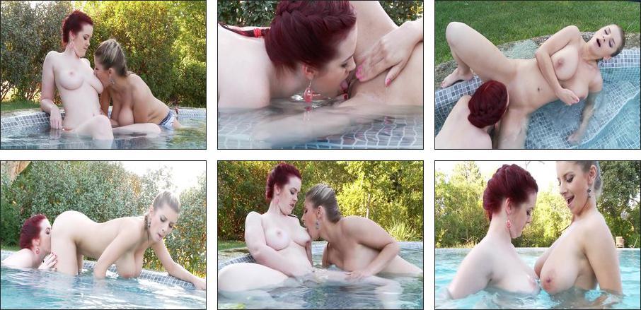 Busty Lesbian Beauties, Scene 3