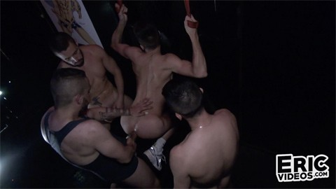 EricVideos - Shain sneaks into a 3-way - Juan Florian, Mathieu Ferhati, Philippe