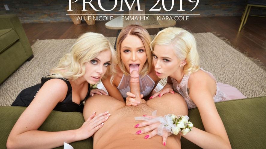Prom 2019, Allie Nicole, Emma Hix, Kiara Cole, May 17, 2019, 4k 3d vr porno, HQ 2048