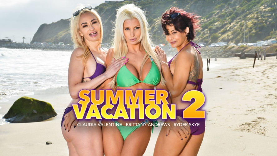 Summer Vacation 2, Brittany Andrews, Claudia Valentine, Ryder Skye, June 14, 2019, 4k 3d vr porno, HQ 2048