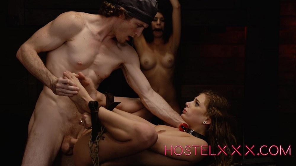Sydney Cole and Olivia Lua - HostelXXX