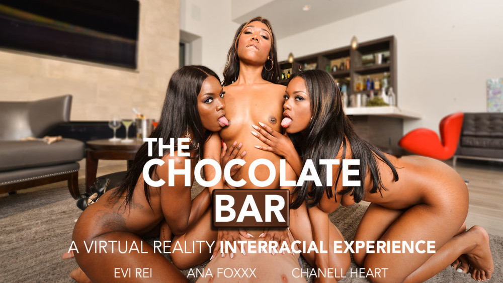 The Chocolate Bar, Ana Foxxx, Chanell Heart, Evi Rei, January 18, 2019, 4k 3d vr porno, HQ 2048