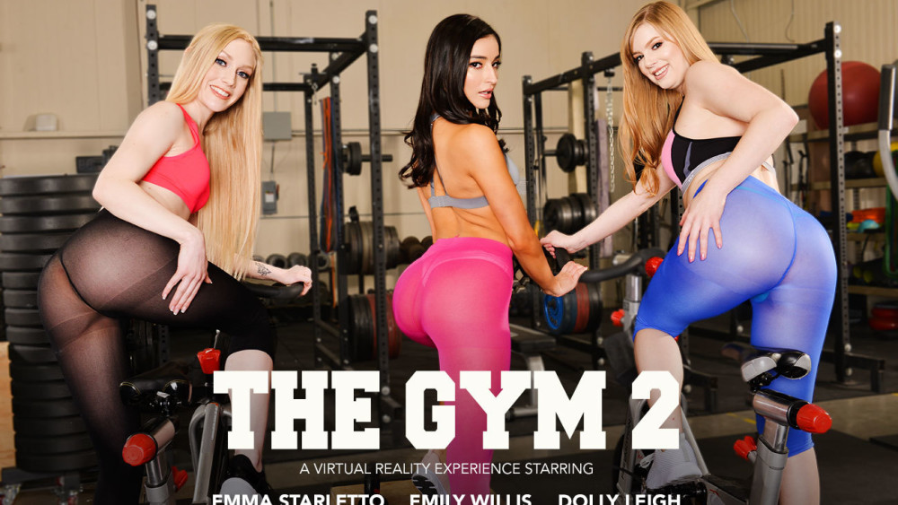 The Gym 2, Dolly Leigh, Emily Willis, Emma Starletto, February 8, 2019, 4k 3d vr porno, HQ 2048