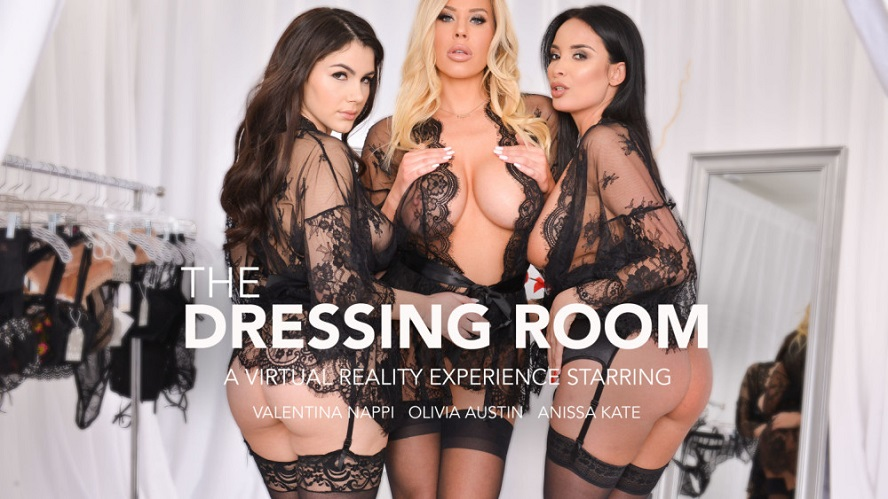 The Dressing Room, Anissa Kate, Olivia Austin, Valentina Nappi, February 22, 2019, 4k 3d vr porno, HQ 2048