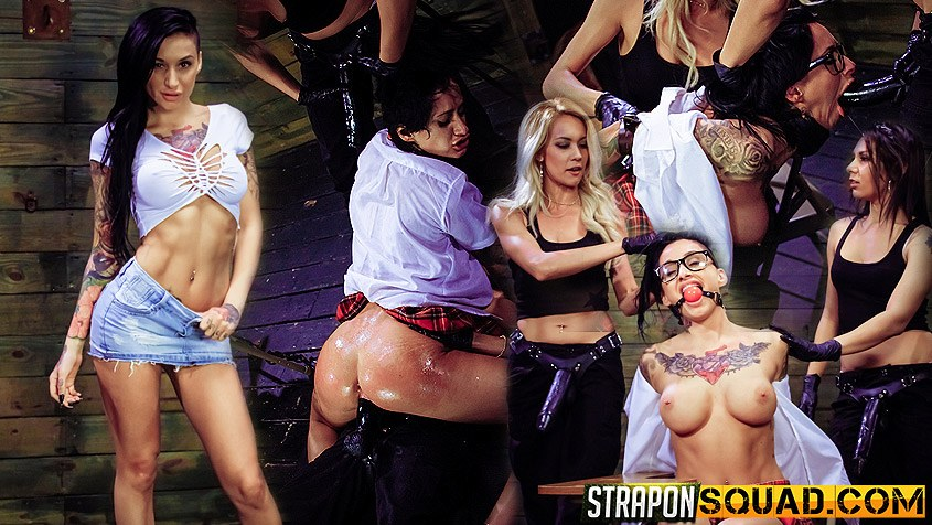 Naughty Schoolgirl Alby Rydes is Punished by Mila Blaze and Isa Mendez