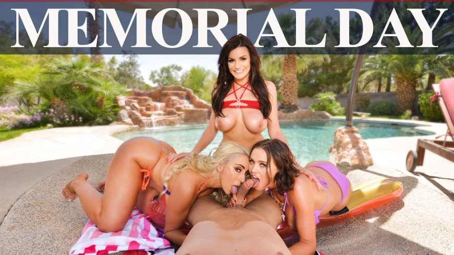 Memorial Day, Becky Bandini, Krissy Lynn, Kylie Kingston, May 24, 2019, 4k 3d vr porno, HQ 2048