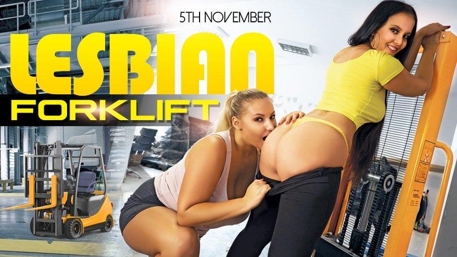 Lesbian Forklift, Jennifer Mendez, Krystal Swift, Nov 05, 2018, 3d vr porno, HQ 2160