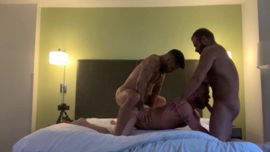 RawFuckClub - Sean Harding Gets Spit Roasted DPd and Bred by Brock Banks and Bruce Hammer
