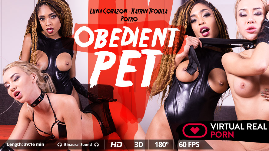 Obedient pet, Katrin Tequila, Luna Corazon, Nov 16, 2017, 3d vr porno, HQ 1600