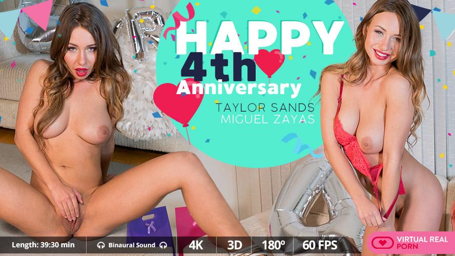 Happy 4th Anniversary, Taylor Sands, Jan 15, 2018, 3d vr porno, HQ 2160