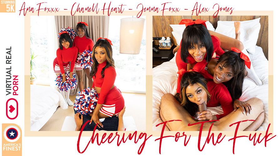 Cheering For The Fuck, Ana Foxxx, Chanell Heart, Jenna Foxx, Sep 04, 2019, 5k 3d vr porno, HQ 2700