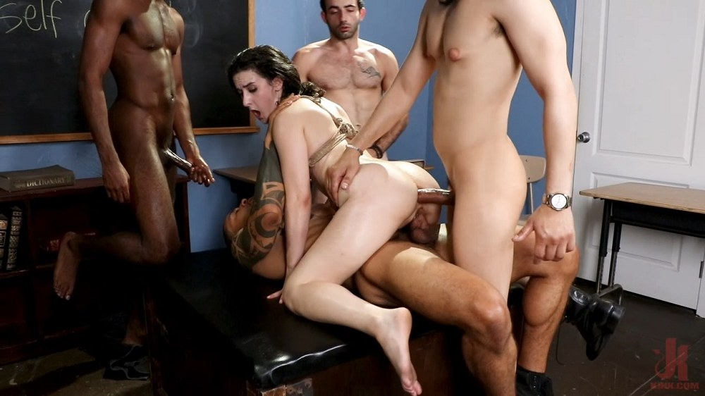 Kink - Anger Management - Lyra Lockhart Gets Gangbanged by Her Students