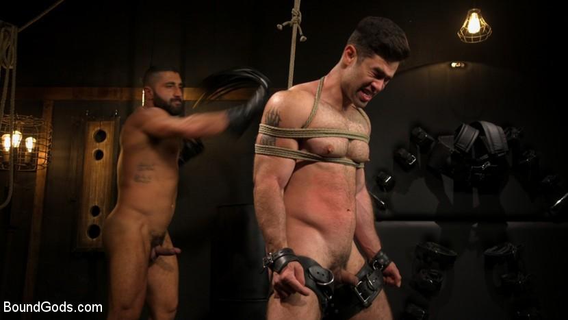 BoundGods - The Captive Boy - Lucas Leon submits to Sharok