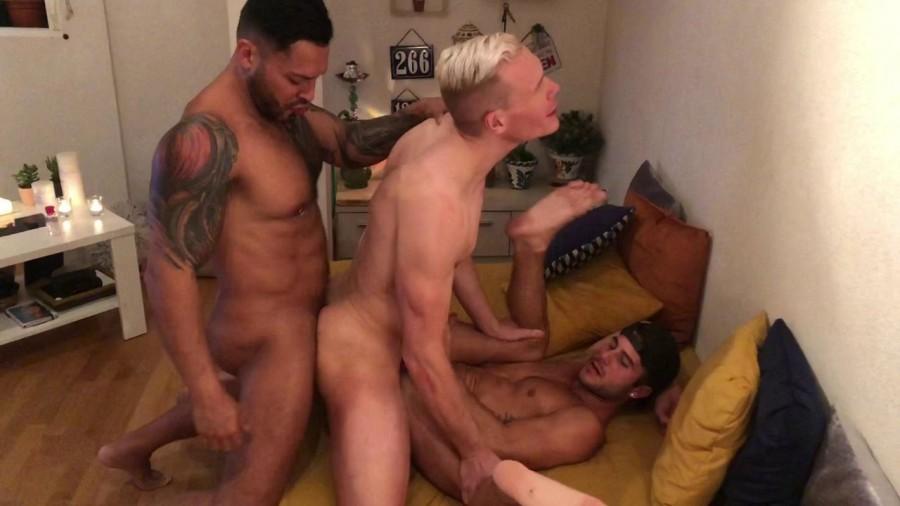 RawFuckClub - Viktor Rom, Allen King, Aaron Mark - Threesome in Madrid