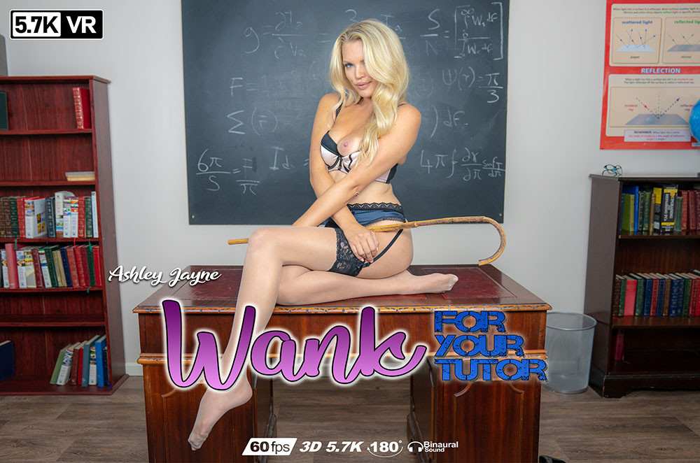 Wank For Your Tutor, Ashley Jayne, Dec 26, 2018, 3d vr porno, HQ 2880