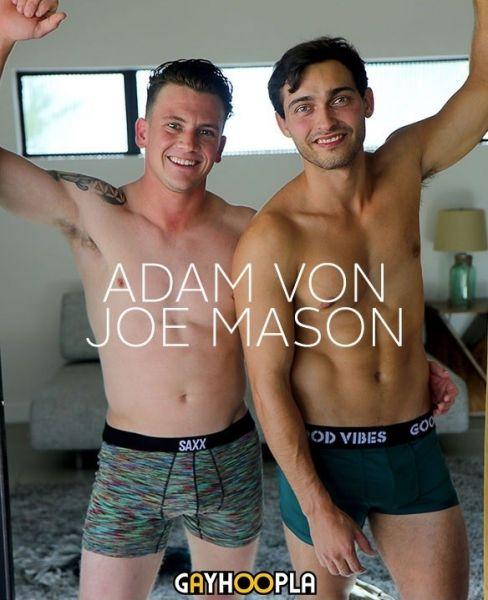 GayHoopla - New Stud Joe Mason FUCKS Adam Vons Tight Ass