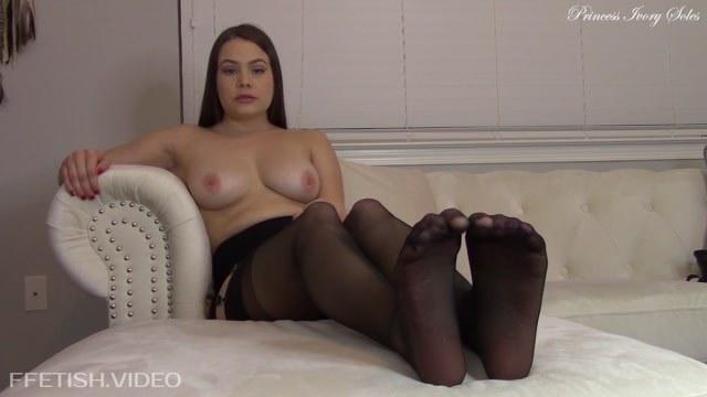 Princess Ivory - Tits and Stockings JOI