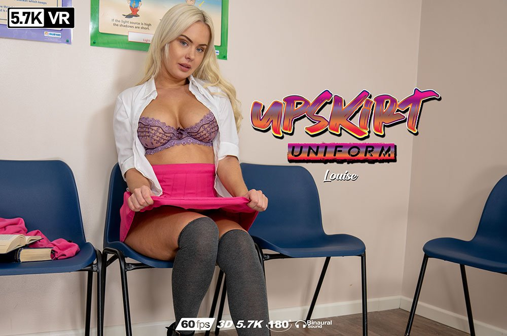 Upskirt Uniform, Louise P, Jun 19, 2019, 3d vr porno, HQ 2880