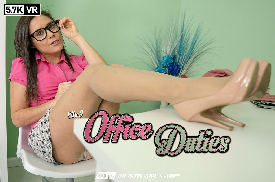 Office Duties, Ella Jay, Oct 1, 2019, 3d vr porno, HQ 2880