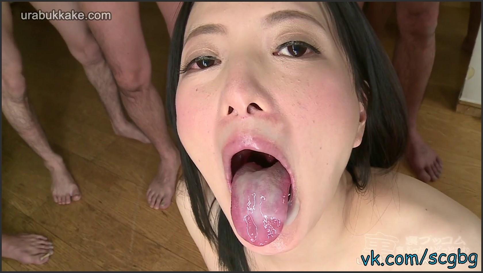 UraBukkake - Cum Maniac Miria's Swallowing Party