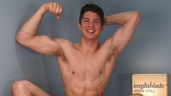 EnglishLads - Cheeky Young Straight Pup Cole Shows his Muscular Hairy Body & Rock Solid Uncut Cock! Cole Halliday