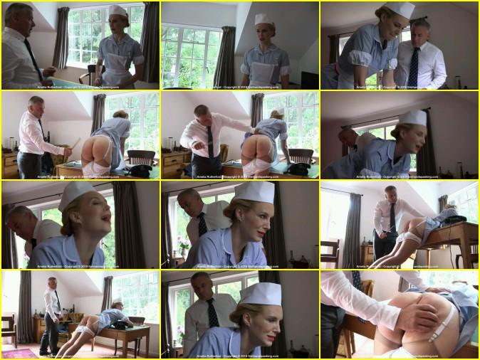 Nurse Amelia A Bare Bottom Spanking With Ruler - HD 1280x720 Video
