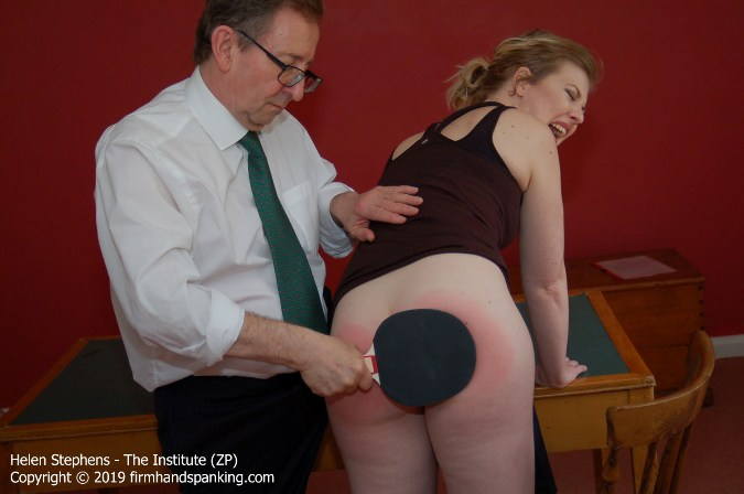 Back To Basics For Helen Stephens With A Sound Bare Spanking - HD 1280x720 Video