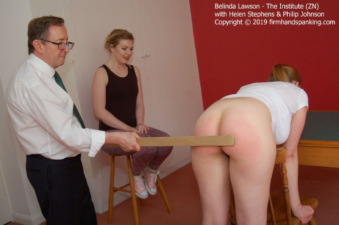 Stinging Yardstick Goes To Work On Belinda Lawsons Bare Cheeks - HD 1280x720 Video