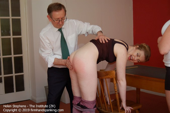 Helens Bottom Soundly Spanked As Punishment Tests At Institute - HD 1280x720 Video