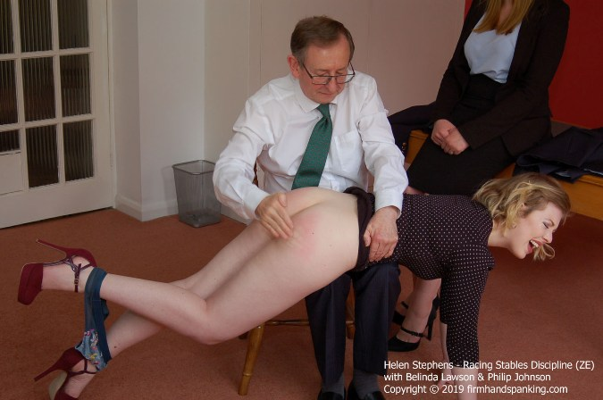 Hard Spanking Turns Helens Bottom Deep, Bouncing Red - HD 1280x720 Video