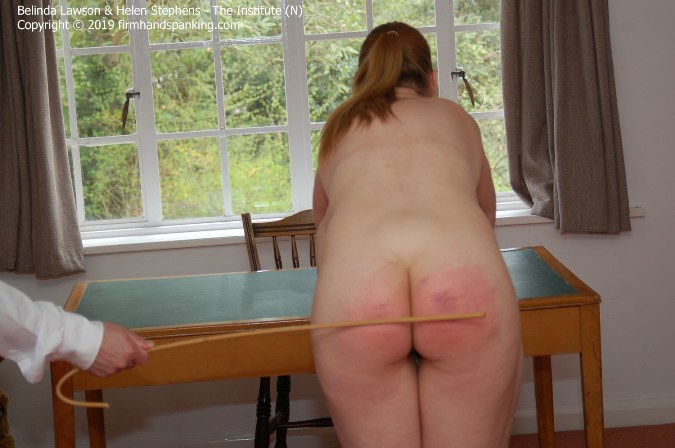 Standing On Tiptoe, Totally Nude, Belinda Lawson Is Caned Held - HD 1280x720 Video